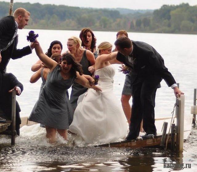 Прикольные и неудачные свадебные фото (50 фото)