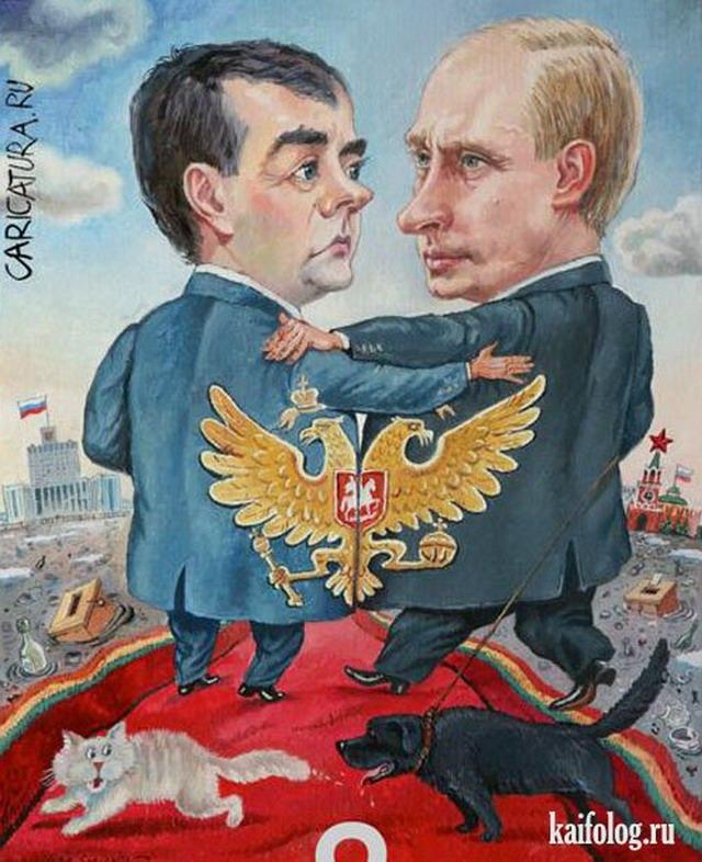 Шаржи на российских звезд (45 картинок)