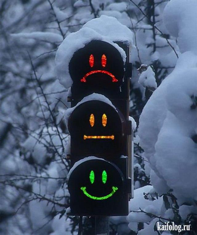 Прикольные светофоры (45 фото)