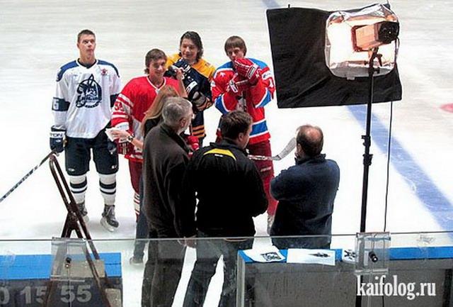 Приколы про хоккей. Часть -2 (55 фото)
