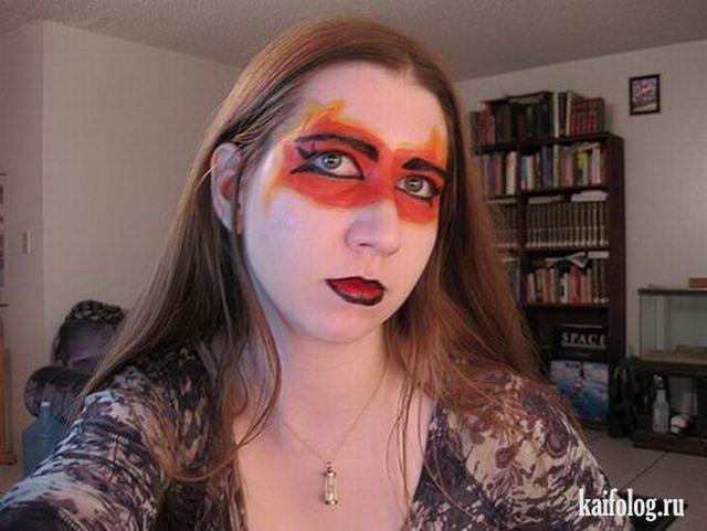 Неудачный макияж (35 фото)