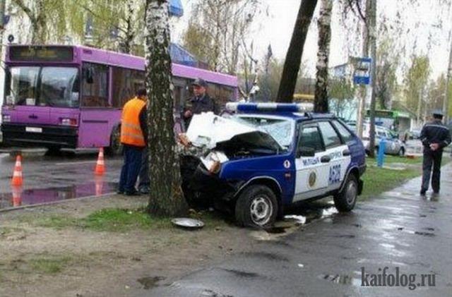 Аварии с ментами (45 фото)