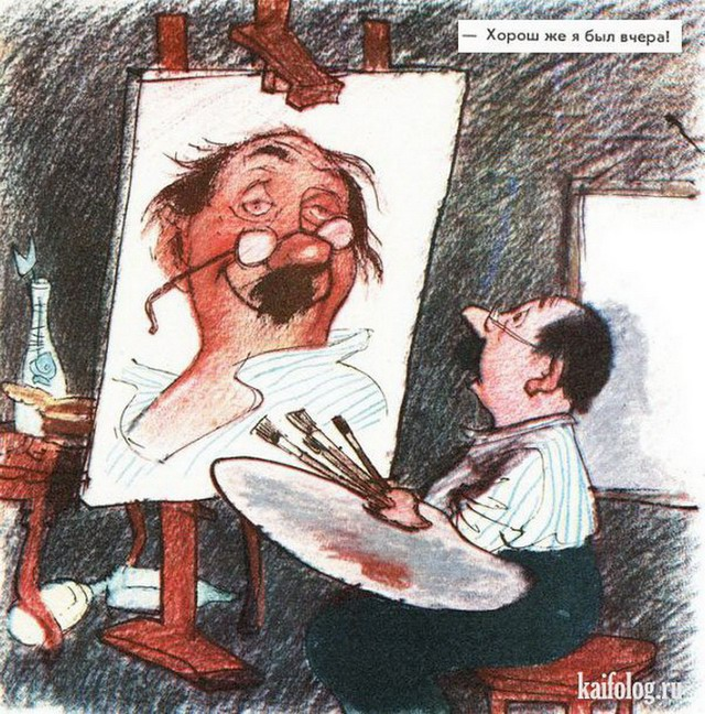 Советские антиалкогольные карикатуры (27 картинок)