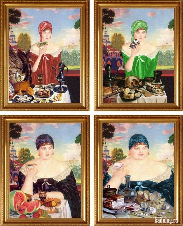 Предыстория известных картин (15 картинок)