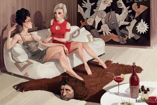 Иллюстрации Владимира Казака (35 картинок)
