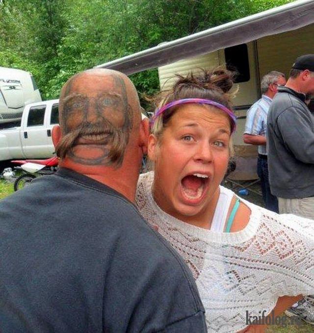 Неудачные и странные тату (50 фото)