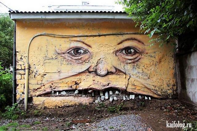 Прикольные граффити (55 фото)
