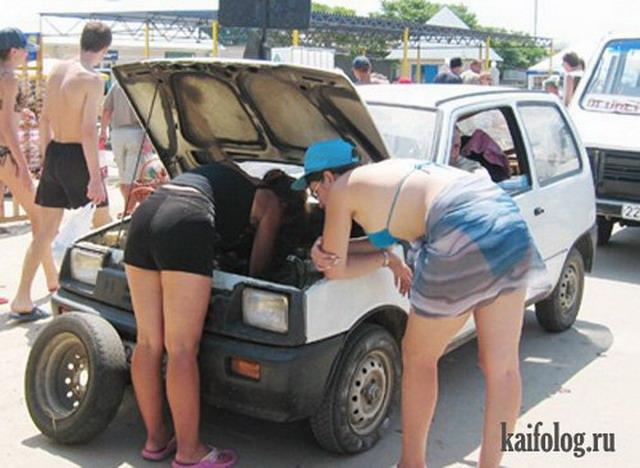 Девушки и авто (30 фото)