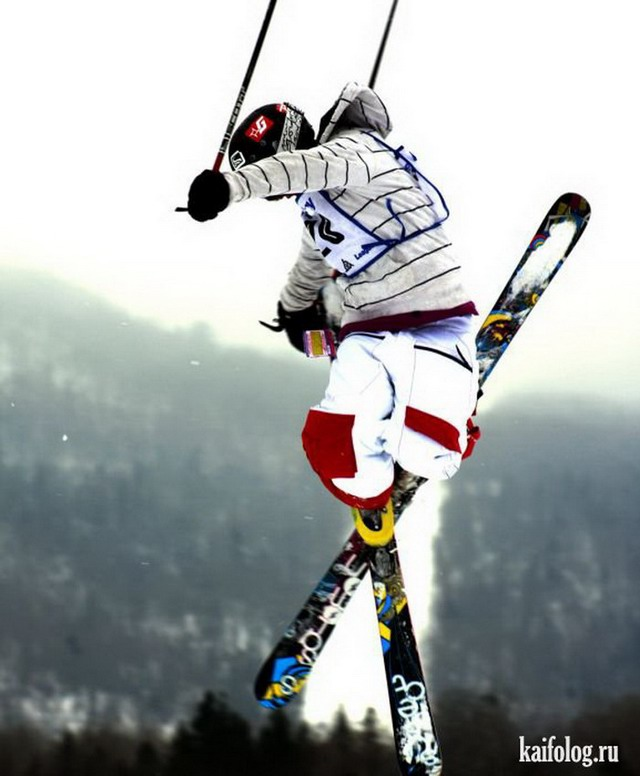 Приколы про лыжников (60 фото)