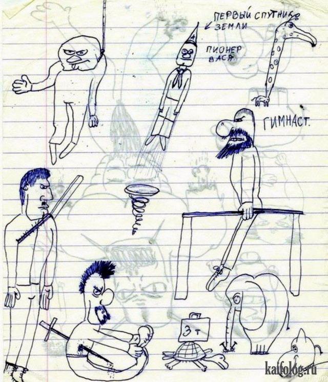 картинки в тетради рисунки