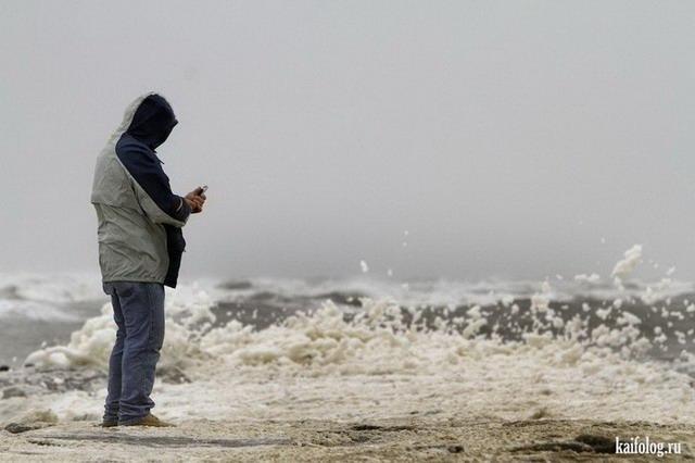 Не все боятся урагана Sandy (60 фото)
