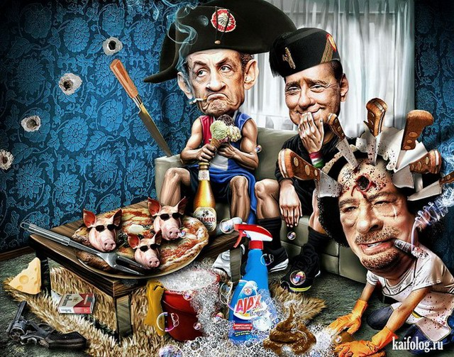 Карикатуры Riccardo Boscolo (35 картинок)
