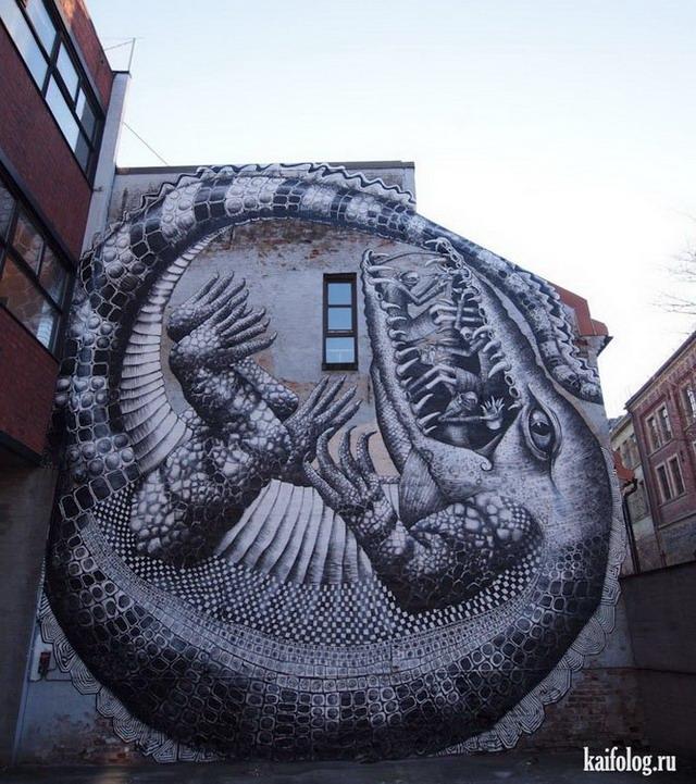 Прикольные граффити. Часть-2 (65 фото)