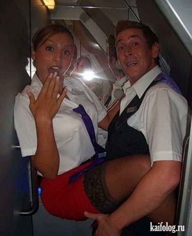 Стюардессы в самолете ебутся вот