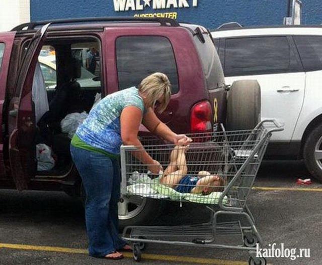 Женщина с тележкой из супермаркета прикол картинки