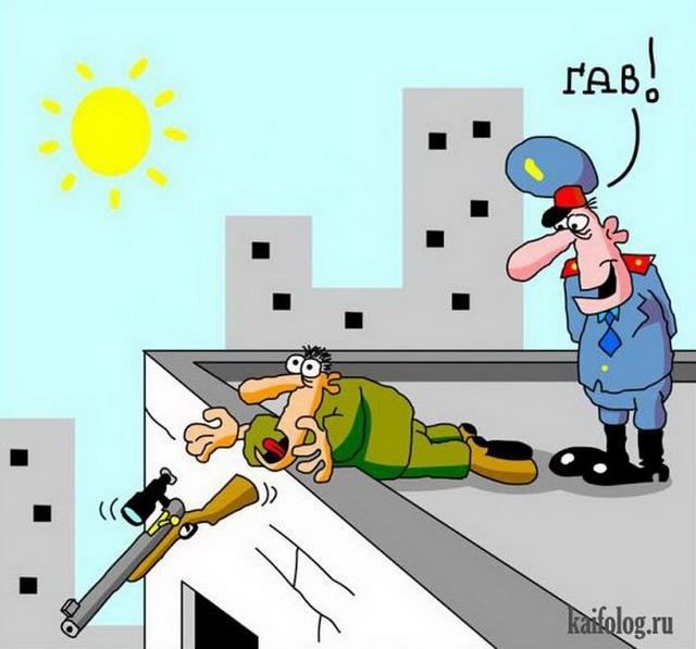 Карикатуры про полицию и ДПС (50 картинок)