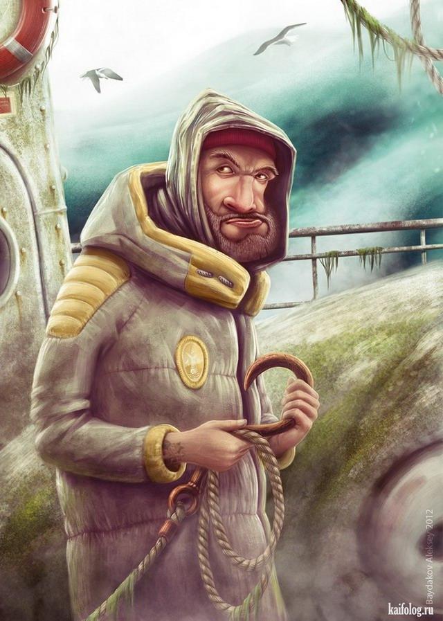 Иллюстратор Алексей Байдаков. (25 картинок)