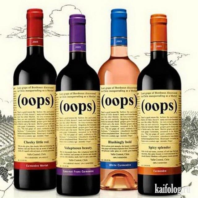 Приколы про вино (55 фото)
