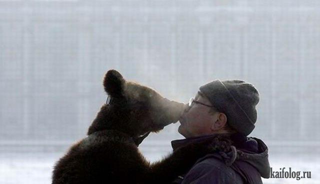 Прикольные поцелуи (55 фото)