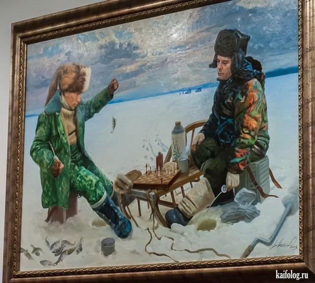 Картины медвепута Александра Акопова (20 картин)