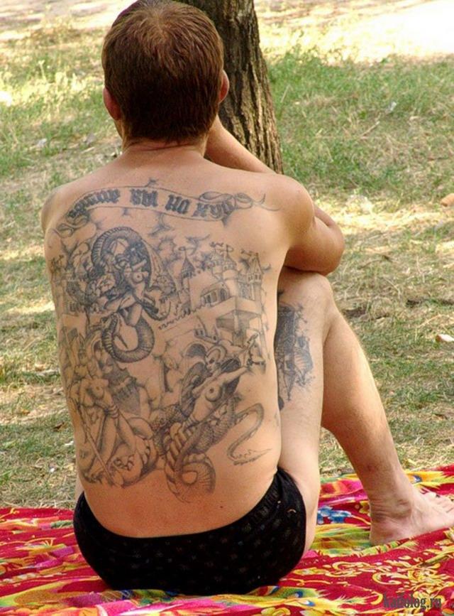 Прикольные татуировки (55 фото)