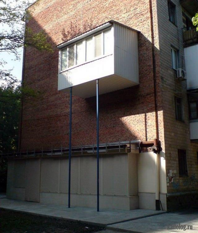 Как пристроить балкон к дому своими руками фото