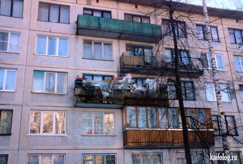Прикольные балконы (65 фото).