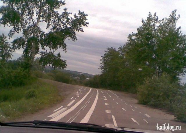 Прикольная дорожная разметка (55 фото + видео)