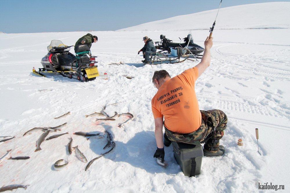 прикольное фото зимней рыбалки что многие