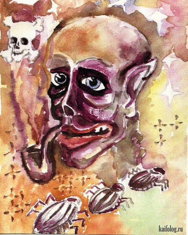 Страшные картинки и рисунки (45 картинок)