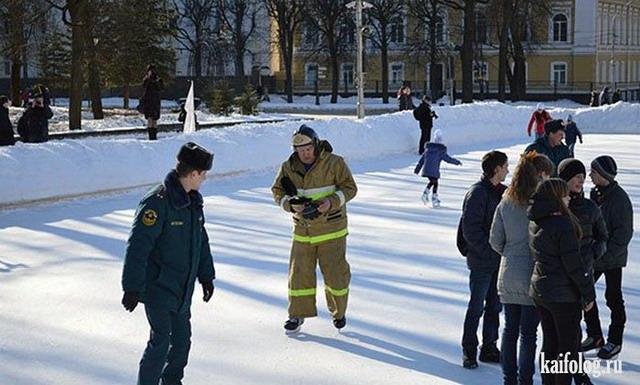 Прикольные пожарники (40 фото)