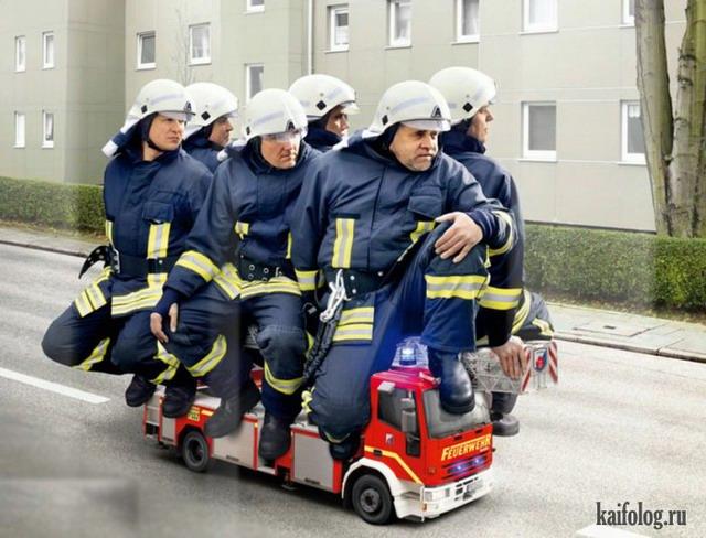 Прикольные пожарные)) 54