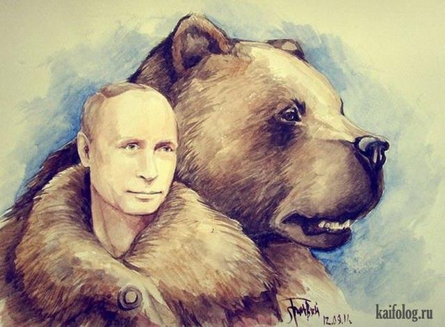 Зарубежные карикатуры и картины на Путина (40 картинок)