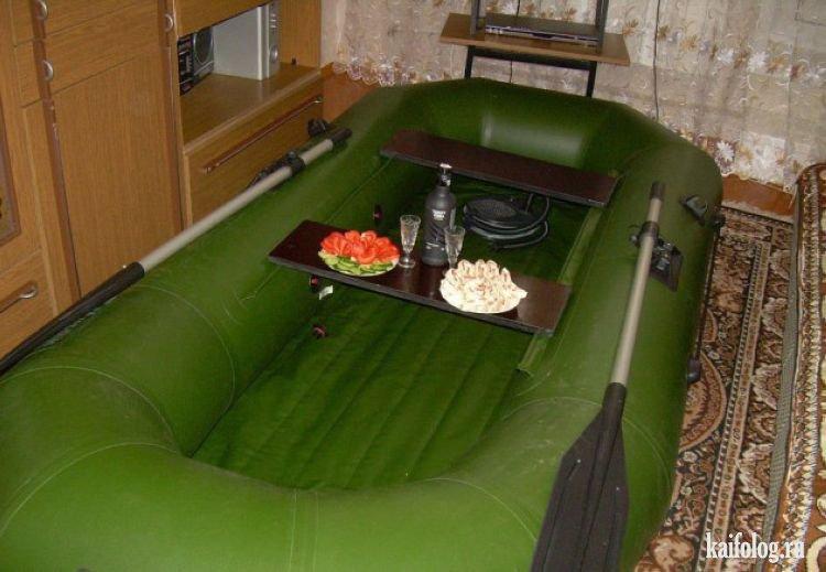 Приколы на надувных лодках