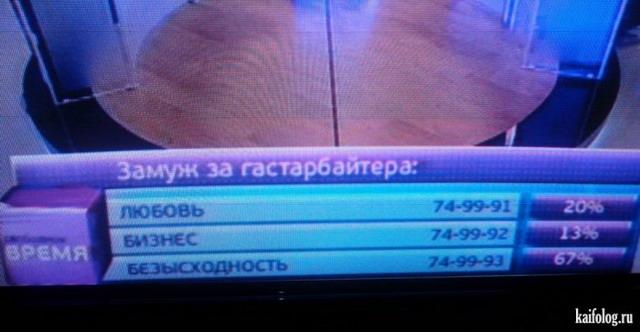 Приколы на ТВ (40 фото)