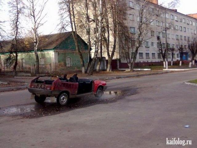 Суровый брянский кабриолет (5 фото)