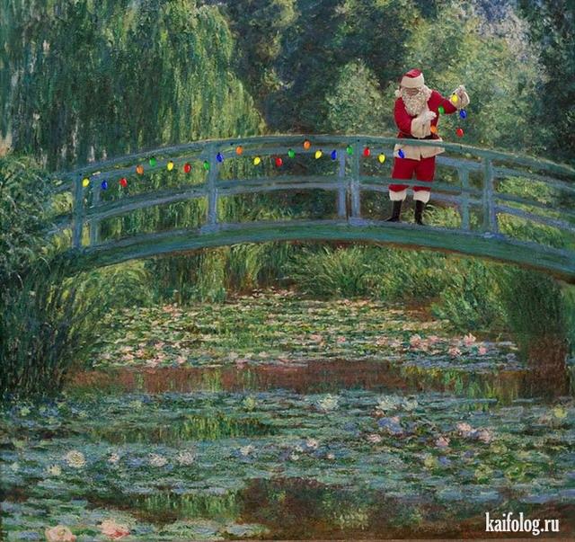 Santa Classics или Санта-Клаус на известных картинах