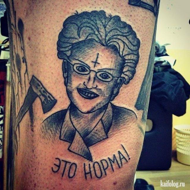 Чисто русские тату (50 фото)