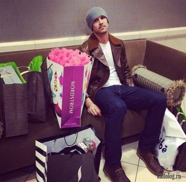 Мужчины и шоппинг (35 фото)