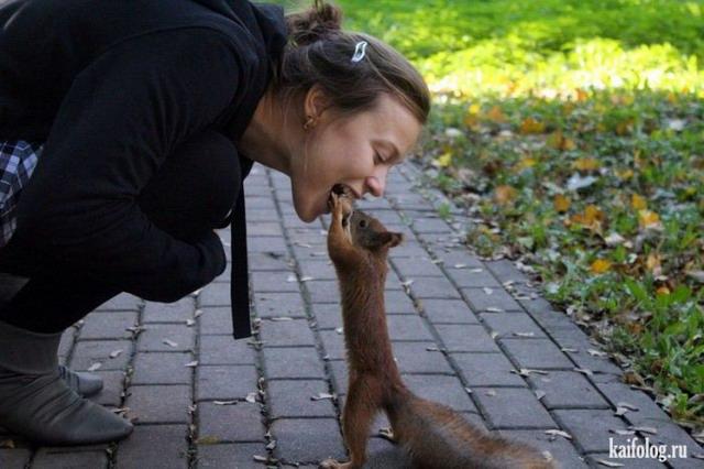 Люди и животные (40 фото)