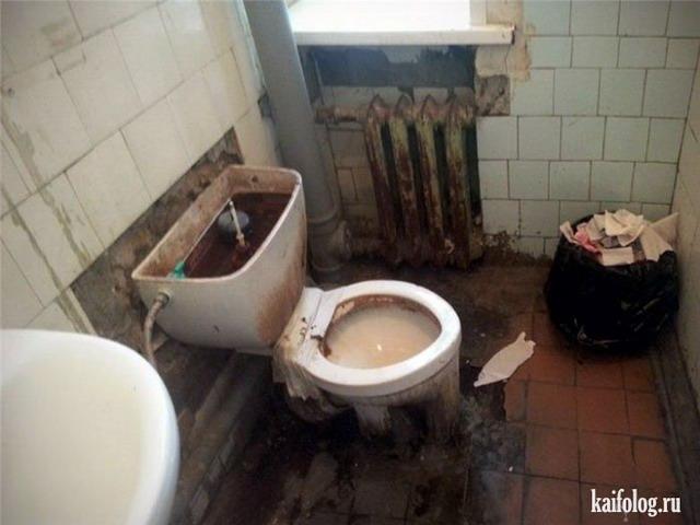 русские в туалете фото
