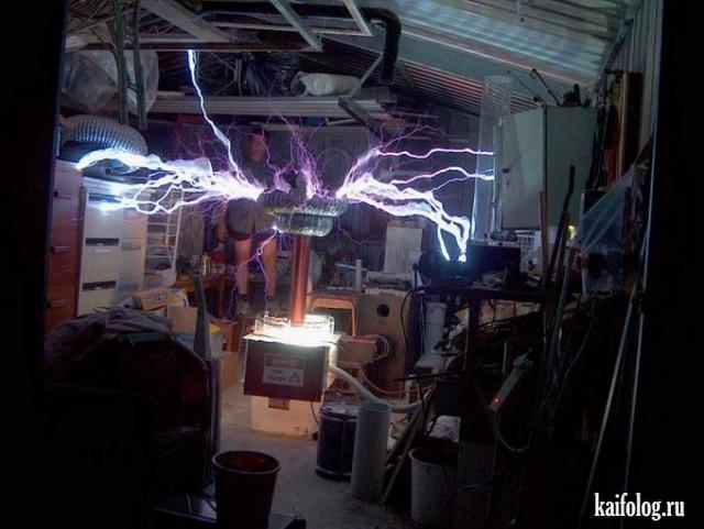 Эксперименты с катушкой Тесла (40 фото)