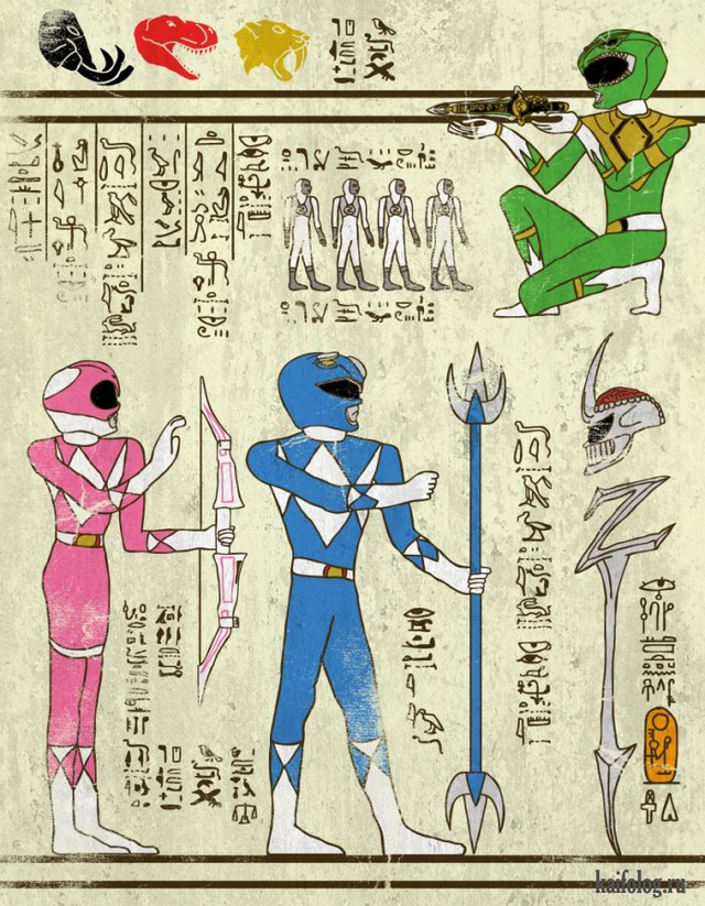 Супергерои в древнем Египте (10 картинок)