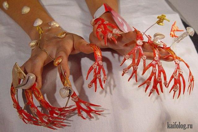 Прикольные и жуткие ногти (55 фото)