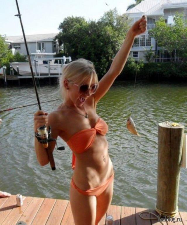 голые фото на рыбалке