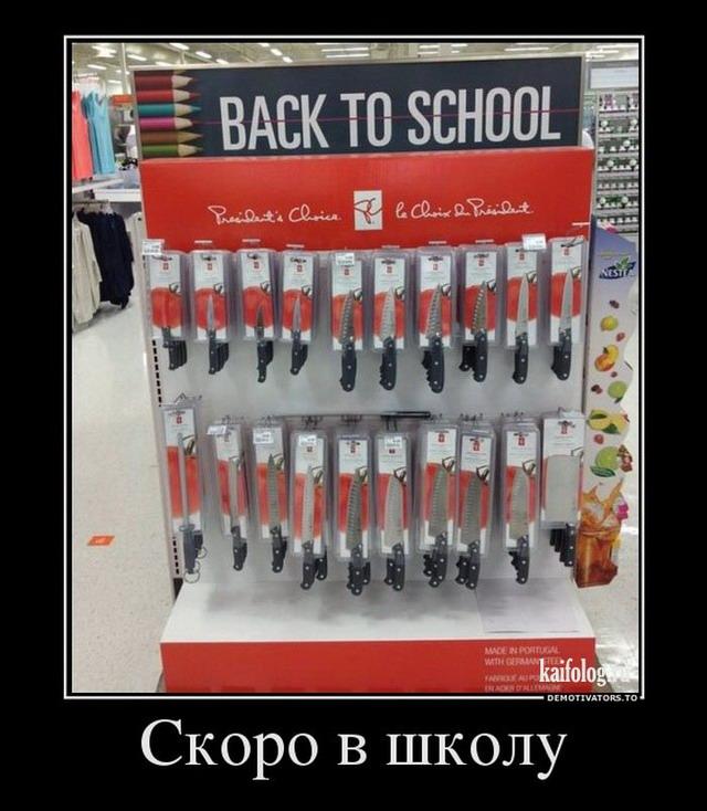 Демотиваторы про школу (55 фото)