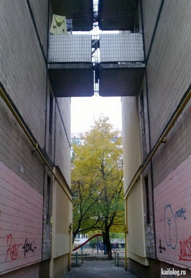 Смешные балконы (50 фотографий)