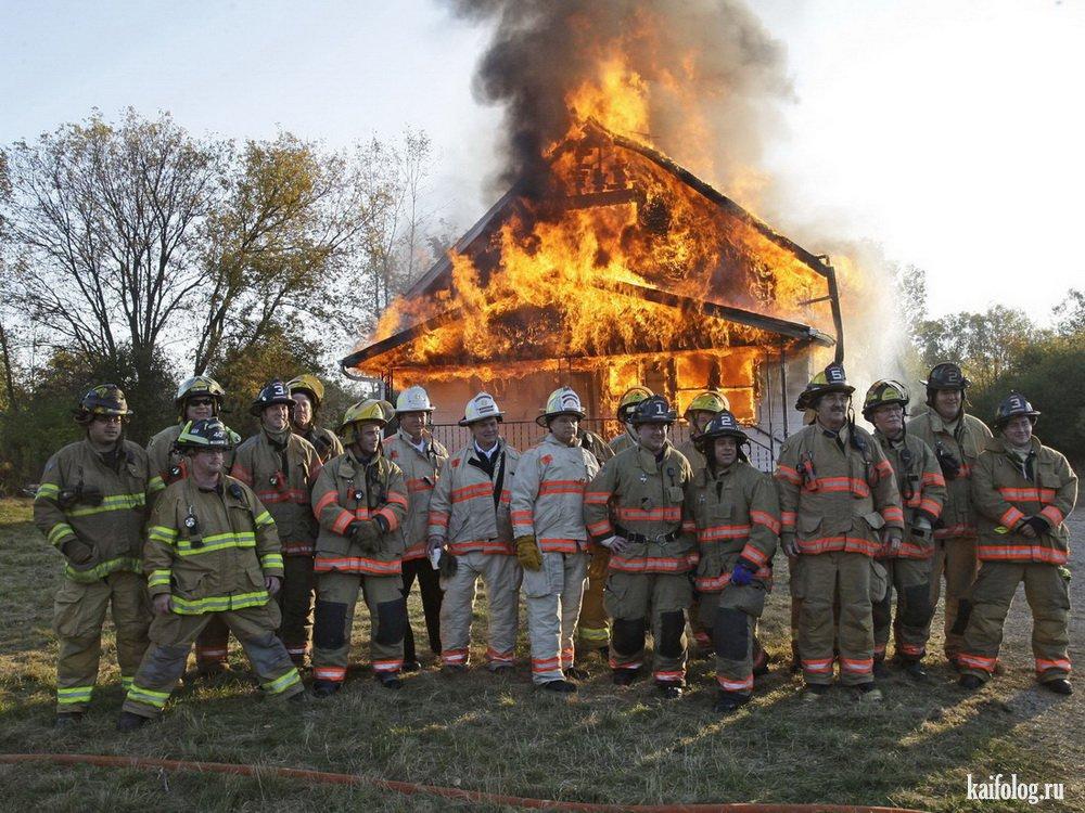 прикольные фото с пожарными отделке фасадов кухни