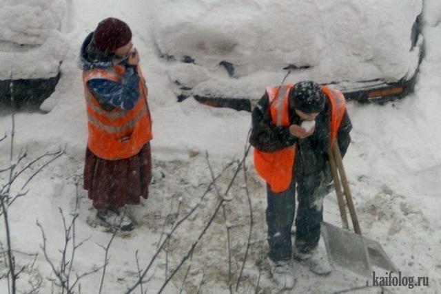Первый снег (70 фото)
