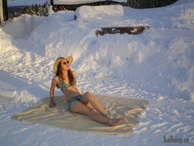 Снежные девушки (45 фото)